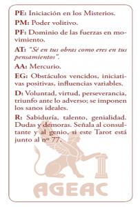 CARTA DE TAROT 2